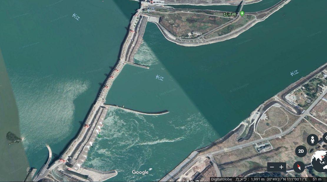三峡 ダム 歪み 決壊の危機と言われる中国の三峡ダム 中央部分が歪みだす